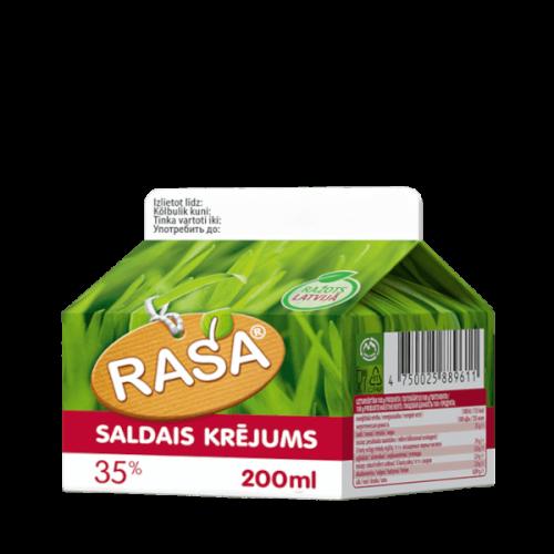 Saldais krējums RASA 35%, 200ml