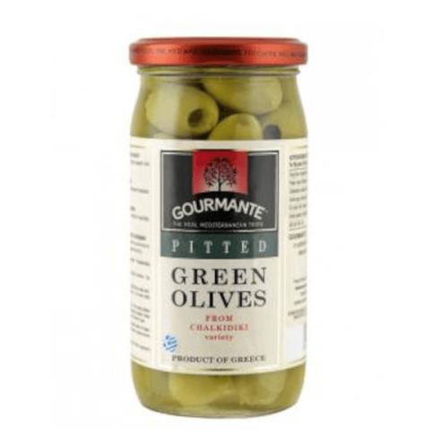 Zaļās olīves bez kauliņiem GOURMANTE, 570ml/360g