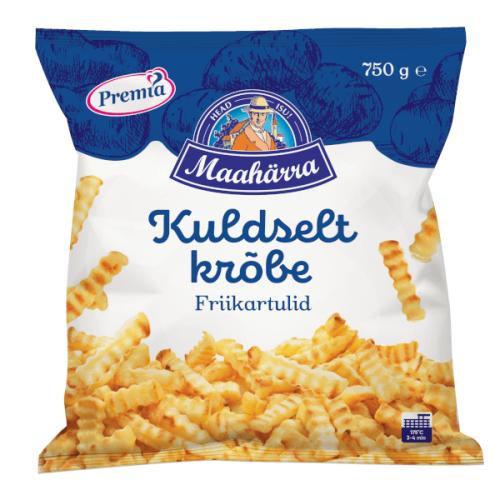 Kartupeļi - frī PREMIA TALLINNA KÜLMHOONE rievotie, 750g