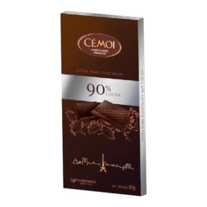 Tumšā šokolāde ar 90% kakao CEMOI, 80g