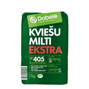 Kviešu milti Dobele Ekstra, tips 405, 1kg