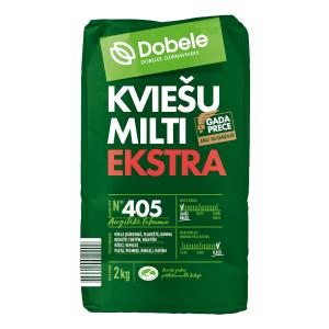 Kviešu milti Dobele Ekstra, tips 405, 2kg