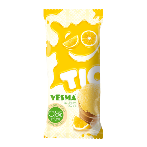 """TIO Saldējums """"Vēsma"""" ar citronu garšu, 130ml/80g"""