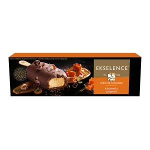 EKSELENCE karameļu saldējums piena šokolādē, 100ml/85g