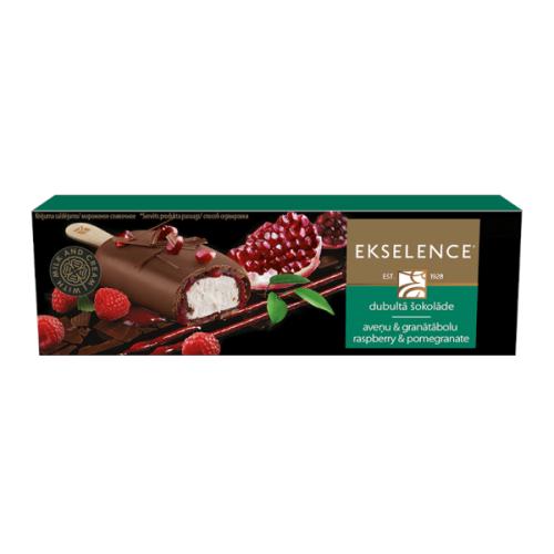 EKSELENCE aveņu - granātābolu saldējums piena šokolādē, 100ml/85g