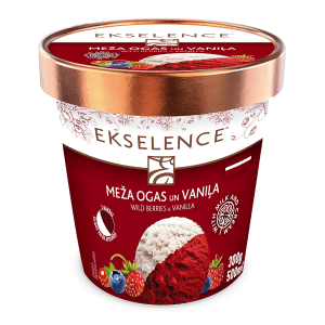 EKSELENCE meža ogu un vaniļas saldējums 500ml/300g