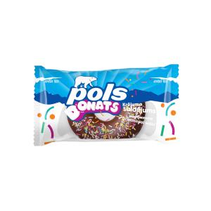 POLS Donats vaniļas saldējums šokolādes glazūrā, 80ml/60g