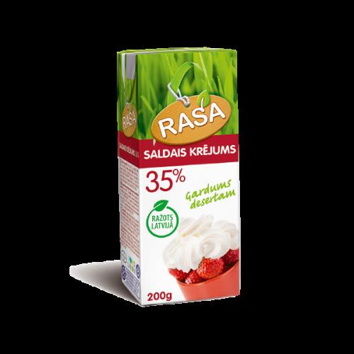 Saldais krējums  RASA 35% , 200g (UHT)