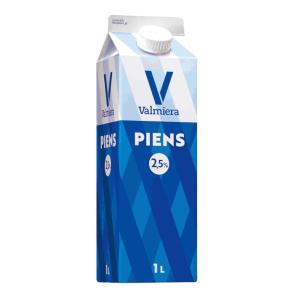 Piens VALMIERA 2.5%, 1L