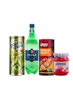 Eļļa, garšvielas un ūdens