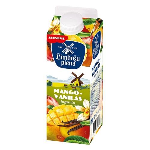 Jogurts LIMBAŽU PIENS mango - vaniļas 1.5%, 950g