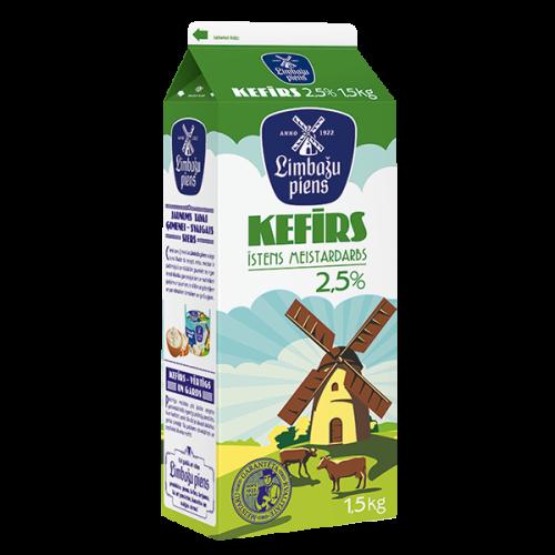 Kefīrs LIMBAŽU PIENS 2.5%, 1.5kg