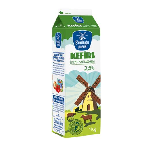 Kefīrs LIMBAŽU PIENS 2.5%, 1kg